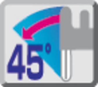 Tăiere unghiulară la 45grd stângă